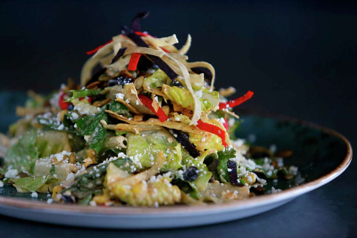 State Fare Kitchen & Bar's Southwest Caesar Salad offers plenty of texture thanks to black, beans, corn, pumpkin seeds and fried tortilla strips.