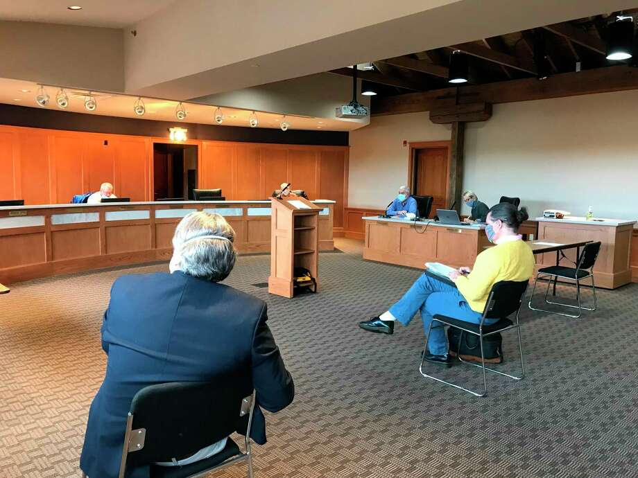 Restauranteur Ted Fricano was present for the Manistee City Council special meeting when council approved an Obsolete Property Rehabilitation Act District for 440 River St. (Erin Glynn/News Advocate)
