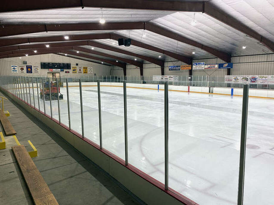The East Alton Ice Arena, which was built in 1995, could be haunted by the spirit of a Union Army soldier, according to people familiar with the rink. The building is located on the site of a former Union Army Civil War bivouac near Wood River Creek. Photo: Pete Hayes | The Telegraph