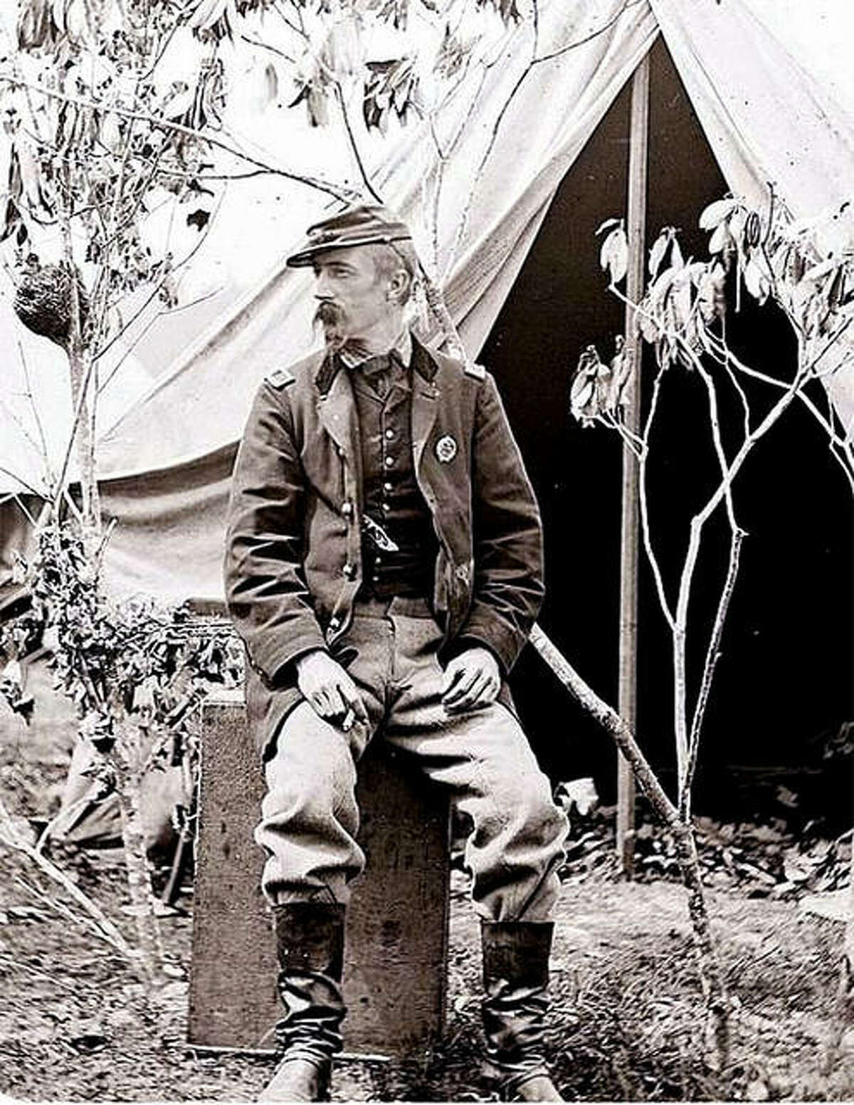 """Does the spirit of a Union Army soldier from the Civil War visit the East Alton Ice Arena? Some say they have seen a spirit in similar dress to this soldier on different occasions at the rink. Ice Arena employees have affectionately nicknamed him """"Rinky."""""""