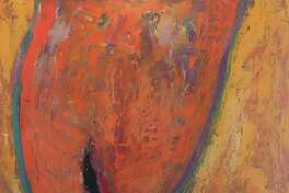 """""""My Soul Bursting,"""" """"Avocados,"""" and """"Emergence (part of a Triptych)"""" are three of the many paintings included in Transitions by Allison May Gennings. The paintings will be on display Nov. 2-Dec. 30 in the Gallery at Kent Memorial Library."""