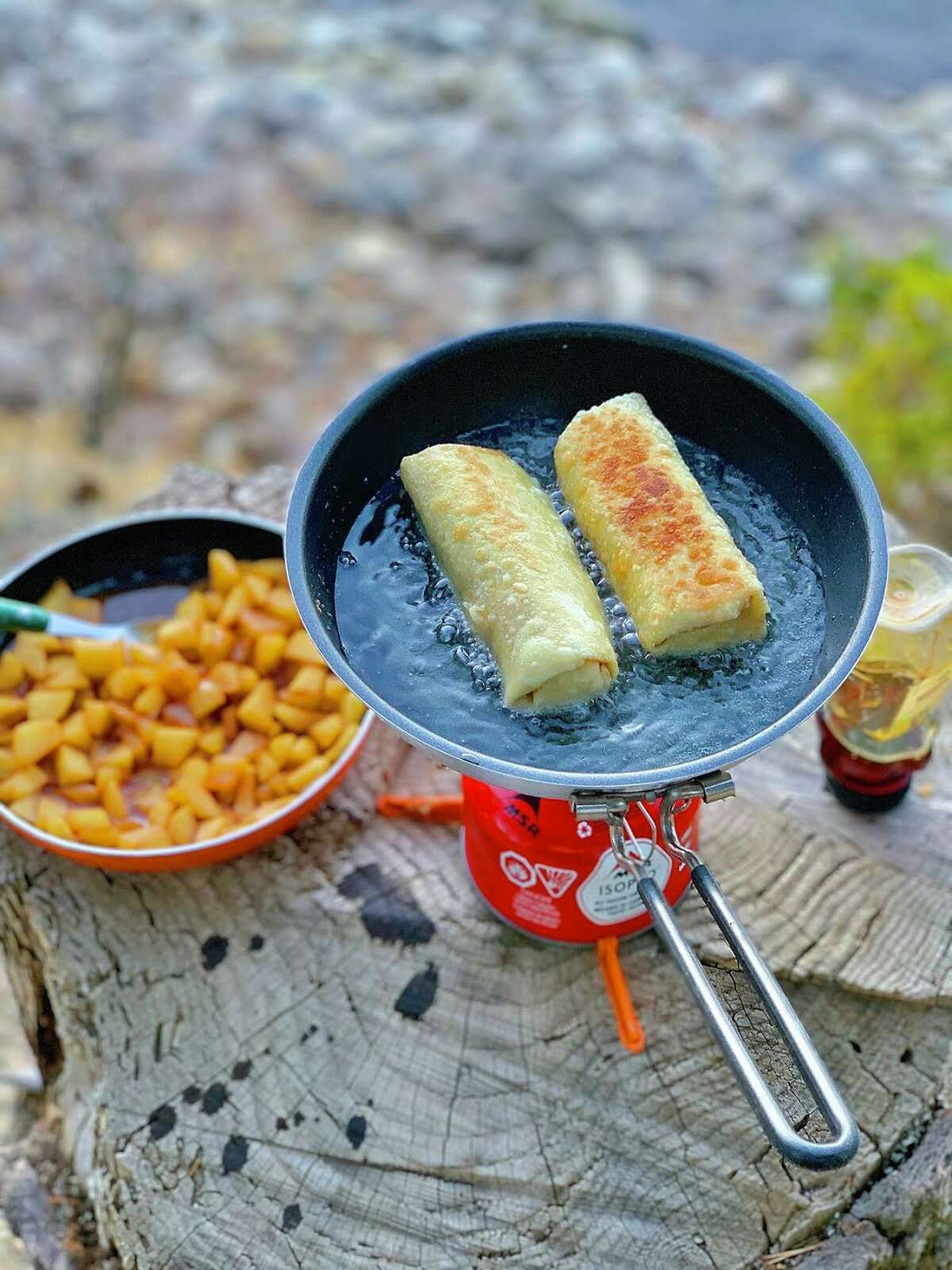 A meal prepared in the wild by Kena Peay.