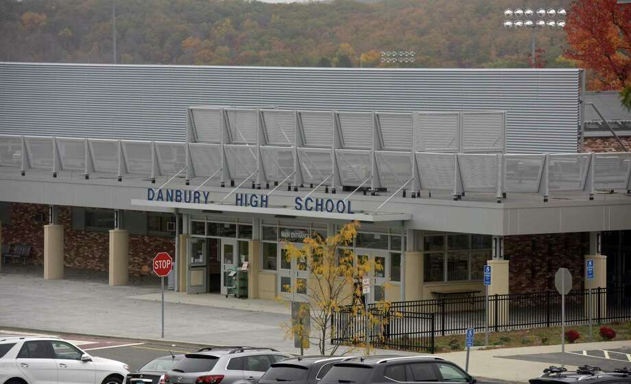 Danbury High School was suppose to start on the hybrid model on Monday but postponed due to a rise in COVID cases.Monday, October 26, 2020, in Danbury, Conn. Photo: H John Voorhees III / Hearst Connecticut Media / The News-Times