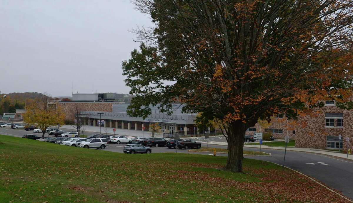 Danbury High School Monday, October 26, 2020, in Danbury, Conn.