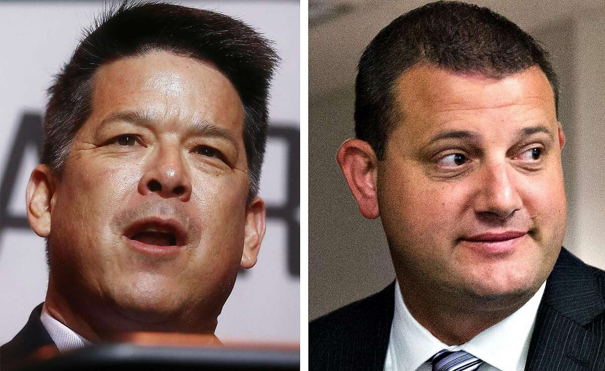In the Central Valley, Democratic Rep. TJ Cox of Fresno, left, is running again against GOP Rep. David Valadao of Hanford (Kings County). In 2018, Cox beat Valadao by 862 votes.
