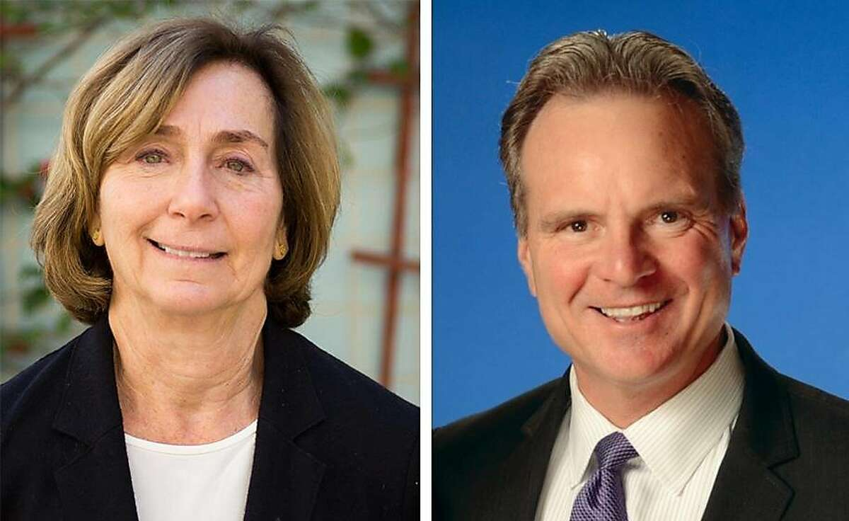 Democratic candidates Ann Ravel, left, and Dave Cortese.
