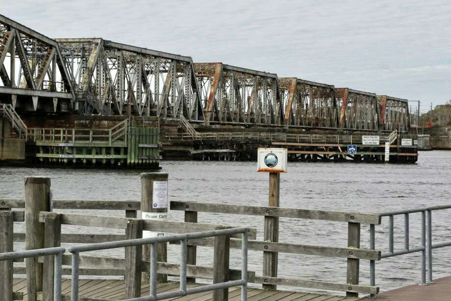 The 113-year-old Connecticut River Amtrak Bridge replacement project just received $64 million dollars in a federal grant. The lift bridge spans the river between Old Saybrook and Old Lyme. Photo: Cat Salazar Digital Press Secretary Joe Courtney
