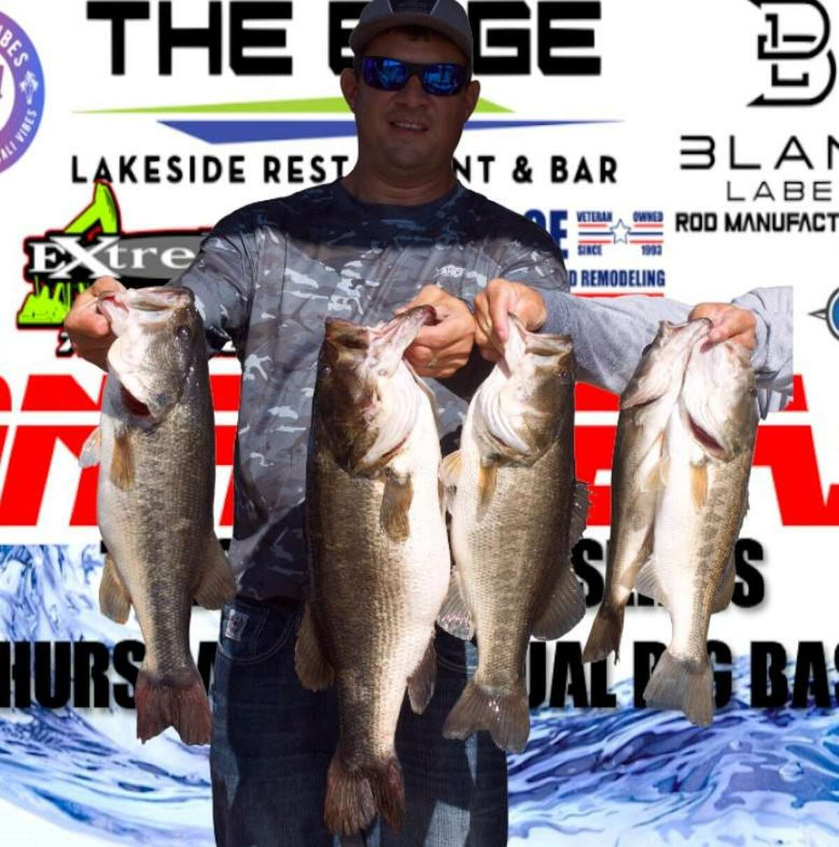 Jonathan Roberson came in first place in the CONROEBASS Mid-Day Madness Championship with a stringer weight of 23.65 pounds.