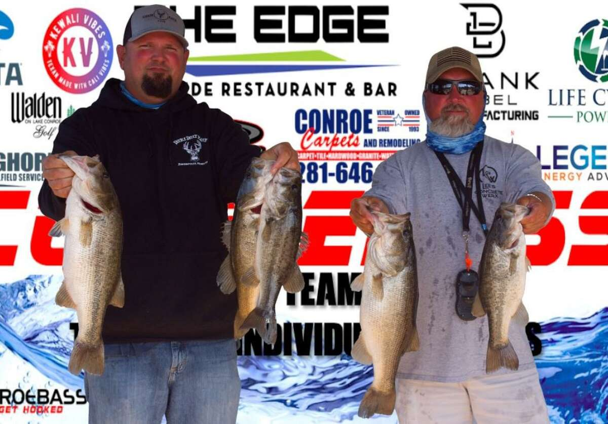 Aaron Schulte and Steve Lee came in third place in the CONROEBASS Mid-Day Madness Championship with a stringer weight of 17.37 pounds.