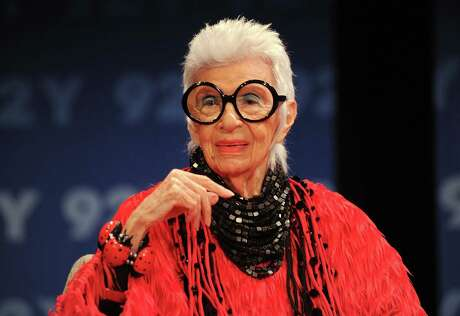 NEW YORK, NY - APRIL 20: Designer Iris Apfel poses for a photo at 92nd Street Y on May 2, 2018 in New York City.