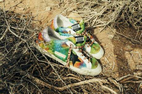 Tie dye Super-Star sneaker in multicolor shearling; $670 at Golden Goose, The Galleria
