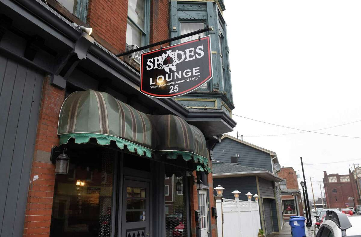 Exterior of Spade's Lounge on Wednesday, Oct. 28, 2020, on White Street in Cohoes, N.Y. (Will Waldron/Times Union)