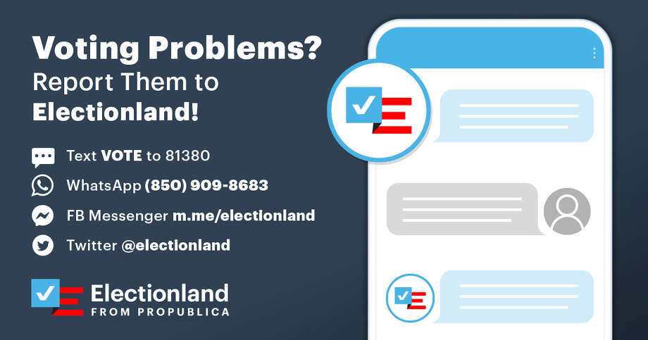 The Express-News is a local partner with ProPublica's Electionland collaboration.