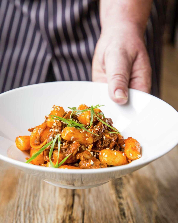 Korean Braised Goat Dumplings are chef Chris Shepherd's signature dish.