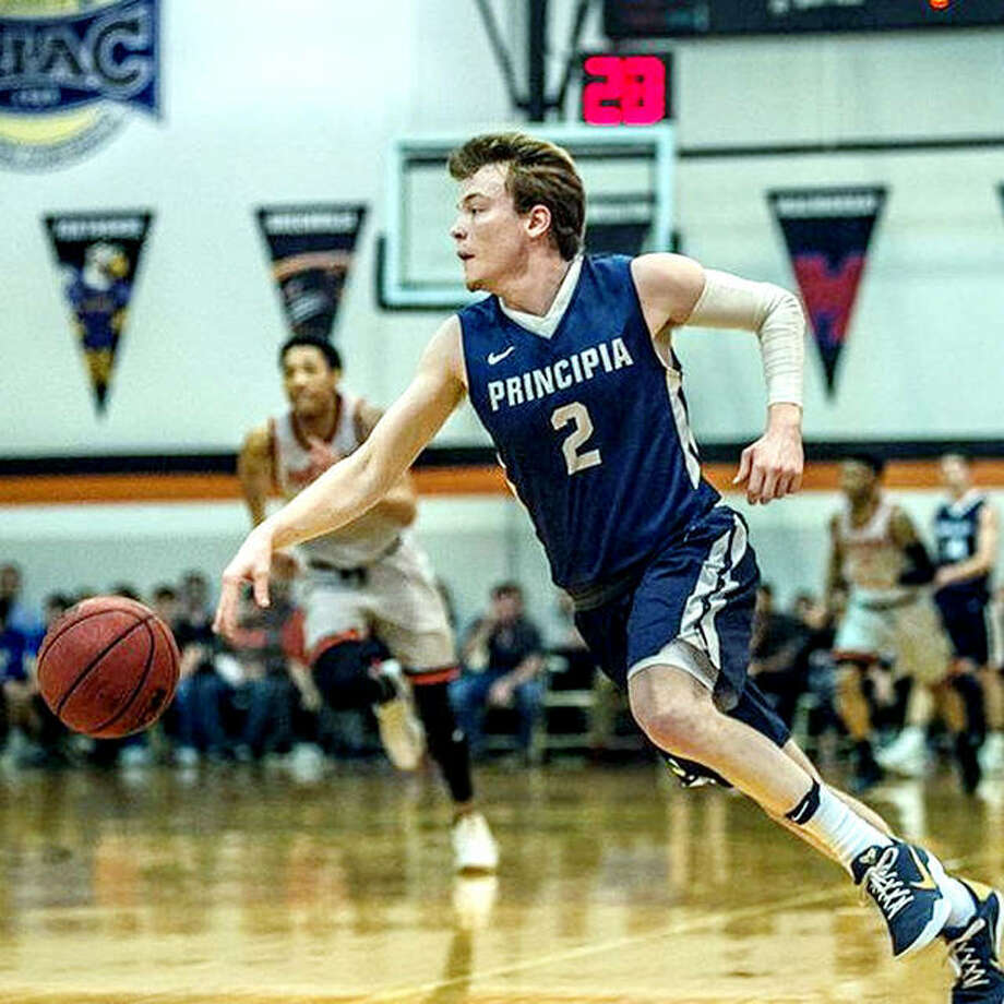 Principia College's Micah Paulson has been named to the All-St. Louis Intercollegiate Athletic Conference's All-Decade Team for the period from 2010-2019. He earned All-SLIAC honors three times during his career including a first team nod as a senior when he was the SLIAC Player of the Year. Photo: Principia Athletics