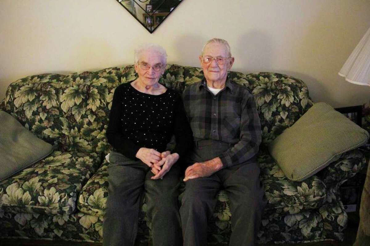 Elmer Micklash will celebrate his 100th birthday on November 9, many of the years were spent with his wife Beatrice who passed away in August. (Tribune photo)