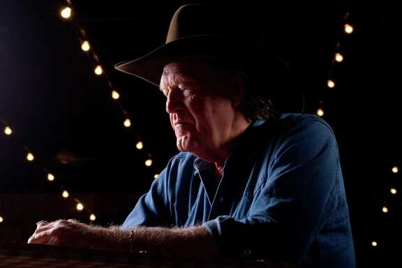 """Billy Joe Shaver, 68, a prolific songwriter living in Waco, Texas, poses inside the Leon Springs Dance Hall in San Antonio, Texas on Friday, August 17, 2007. His new gospel album, entitled """"Everybody's Brother,"""" comes out on August 25, 2007."""