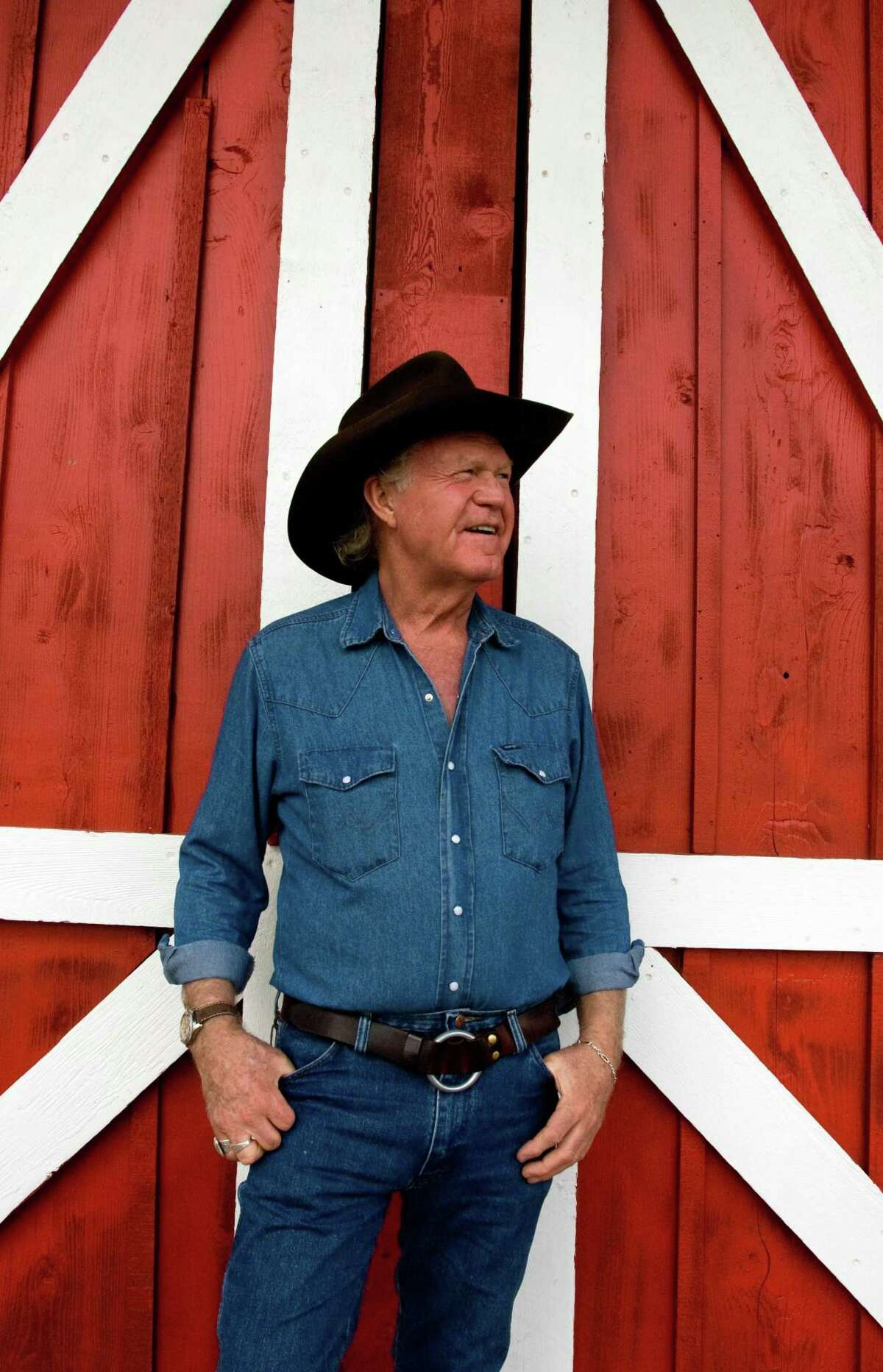"""Billy Joe Shaver, 68, a prolific songwriter living in Waco, Texas, poses outside the Leon Springs Dance Hall in San Antonio, Texas on Friday, August 17, 2007. His new album, entitled """"Everybody's Brother,"""" comes out on August 25, 2007."""