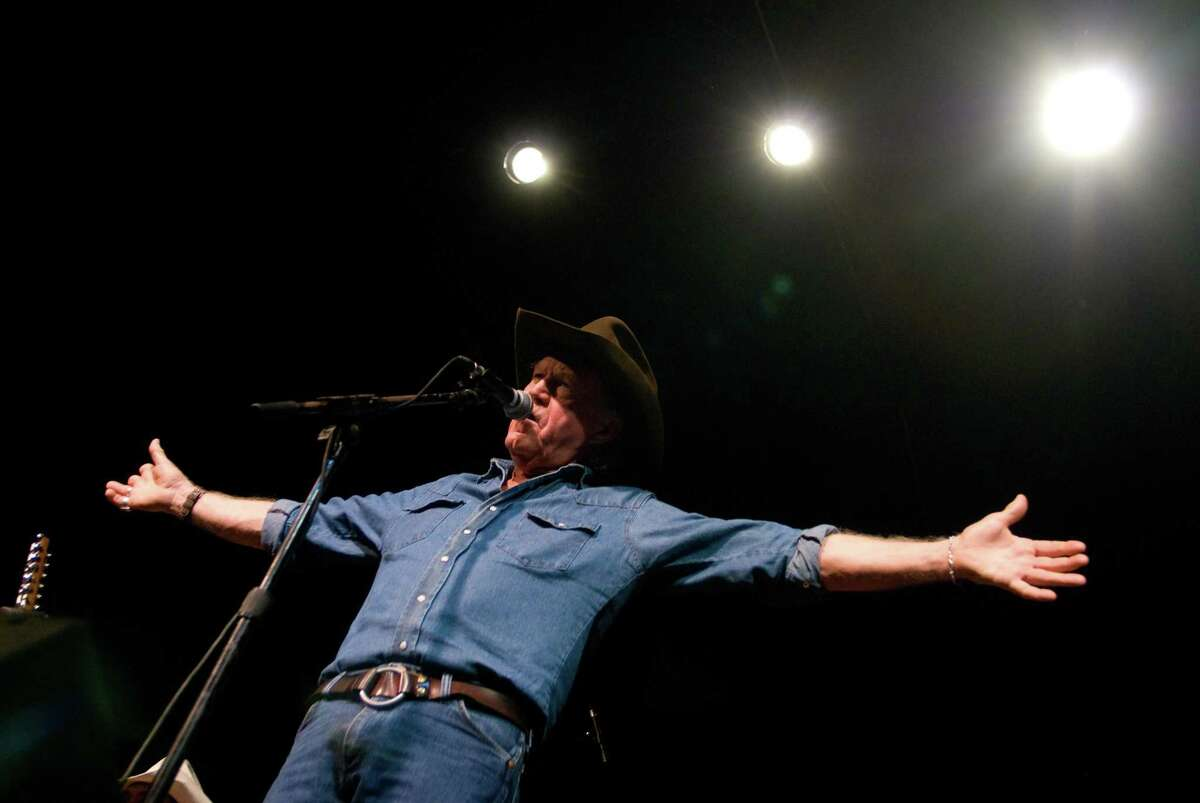 """Billy Joe Shaver, 68, a prolific songwriter living in Waco, Texas, performs his song """"Live Forever,"""" at the Leon Springs Dance Hall in San Antonio, Texas on Friday, August 17, 2007. Shaver lost is mother, wife and son within one year in 1999-2000. His new gospel album, entitled """"Everybody's Brother,"""" comes out on August 25, 2007."""