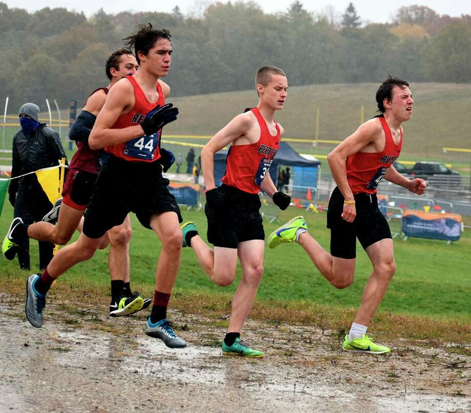 From left-to-right: Izaiah Lentz, Ryan Allen and Anthony Kiaunis of Reed City compete at last week's race. (Courtesy photo)