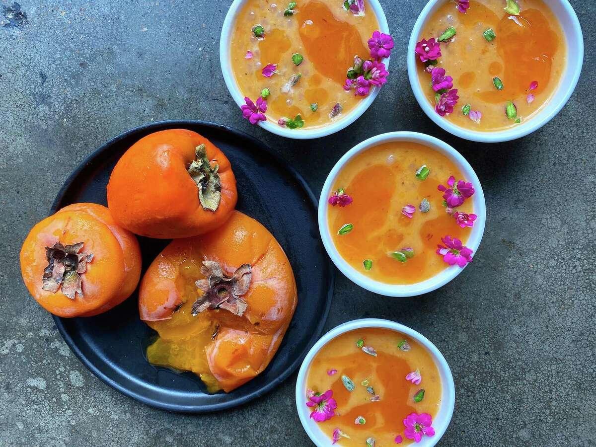 Persimmon pudding by Pondicheri chef Anita Jaisinghani