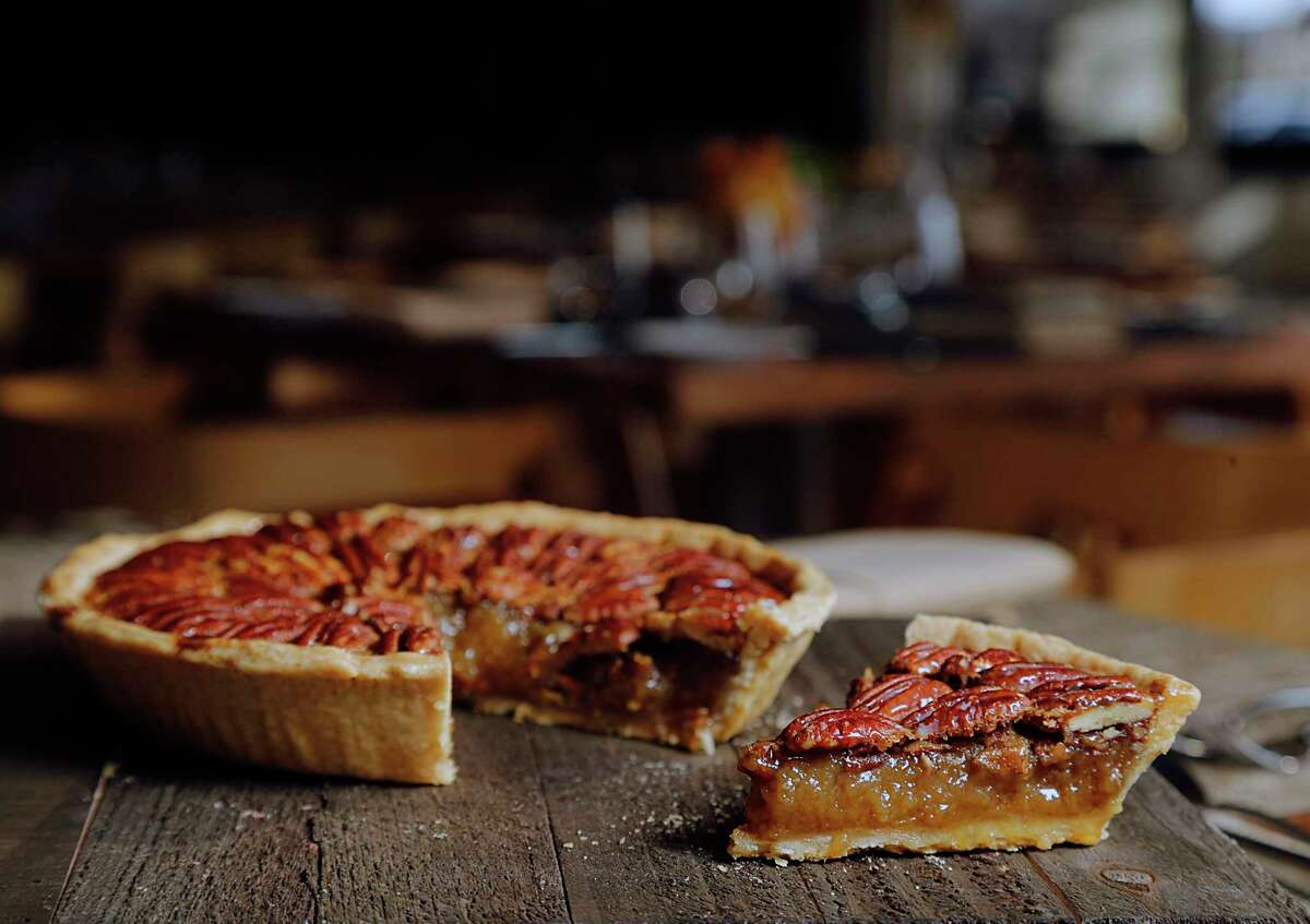 A pecan pie by Samantha Mendoza, former pastry chef for Triniti restaurants, who now oversees desserts for Ronnie Killen's restaurants.