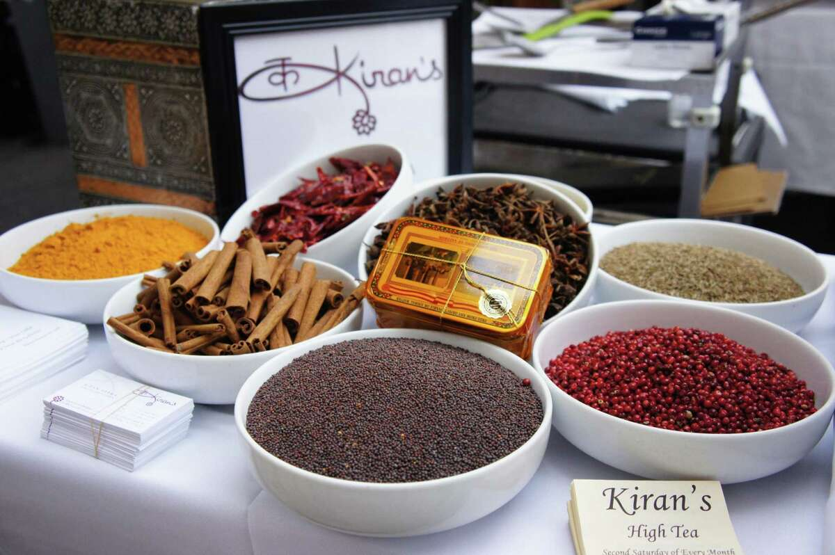 Chai tea ingredients for afternoon tea service at Kiran's.