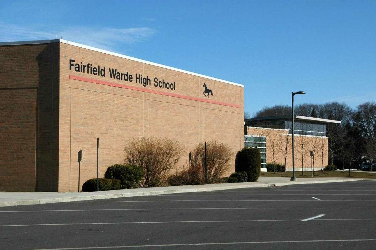 File photo of Fairfield Warde High School in Fairfield, Conn.