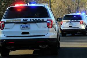 File photo of New Haven, Conn., police cruisers.