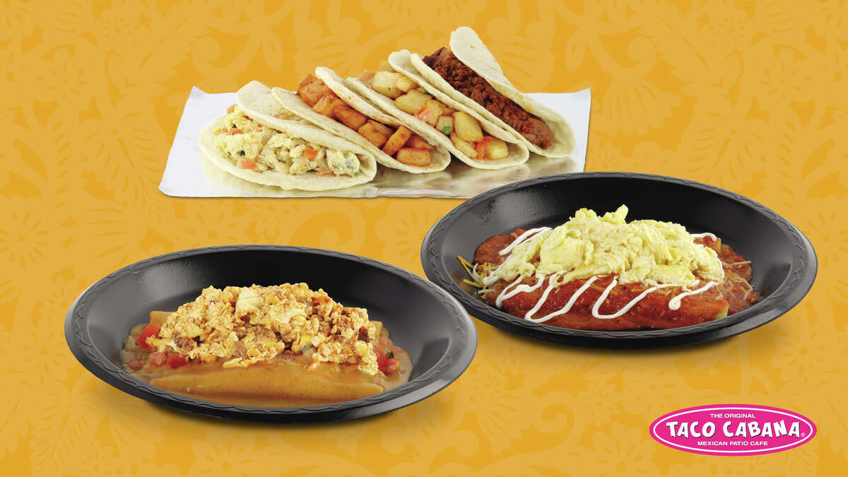 Taco Cabana is offering four new $1 breakfast tacos to its menu, as well as a new breakfast enchilada item.