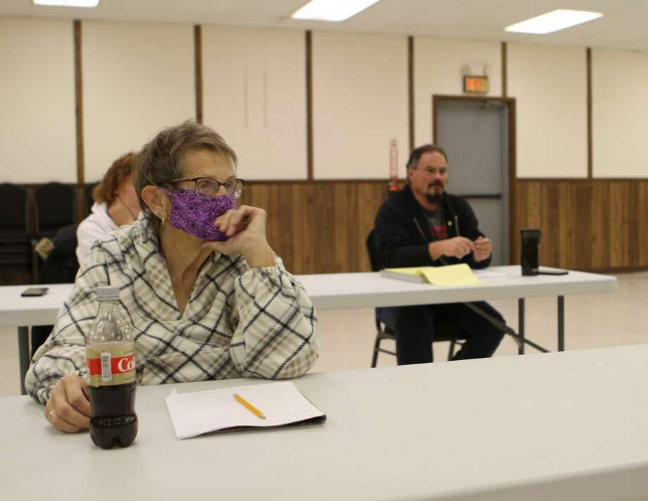 Fork Township and Barryton residents attended an informational meeting Tuesday evening to find out about possible pros and cons of disincorporating the village of Barryton. Photo: Pioneer Photo/Taylor Fussman