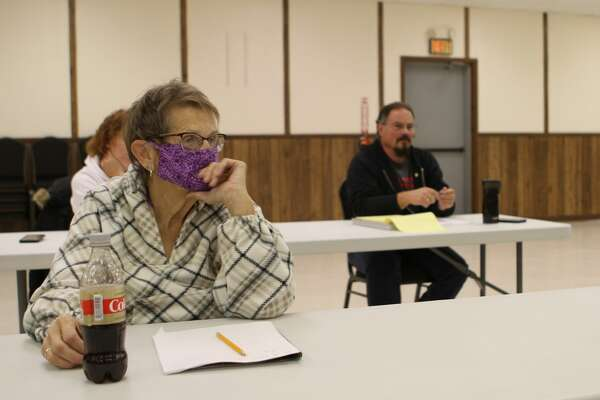 Fork Township and Barryton residents attended an informational meeting Tuesday evening to find out about possible pros and cons of disincorporating the village of Barryton.