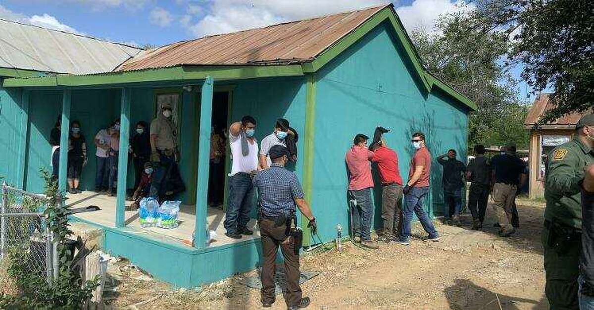 U.S. Immigration and Customs Enforcement-Enforcement and Removal Operations officers discovered 32 people inside a stash house in Laredo. The individuals were immigrants who were in the country illegally.