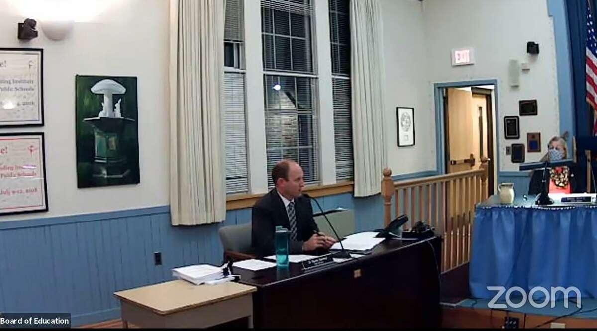 Superintendent Martin Semmel speaks to the Trumbull Board of Education on Oct. 27, 2020.