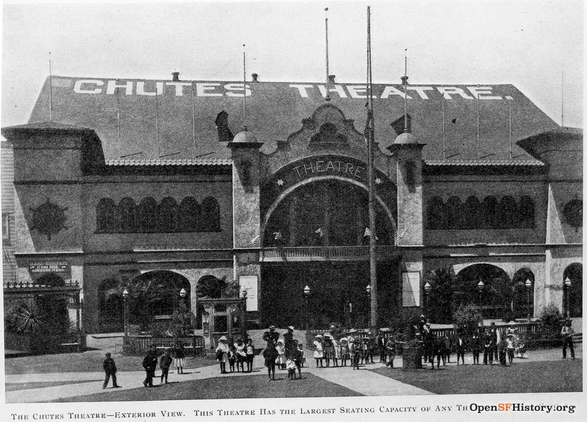 The Chutes theater on Haight Street, circa 1901, that boasts