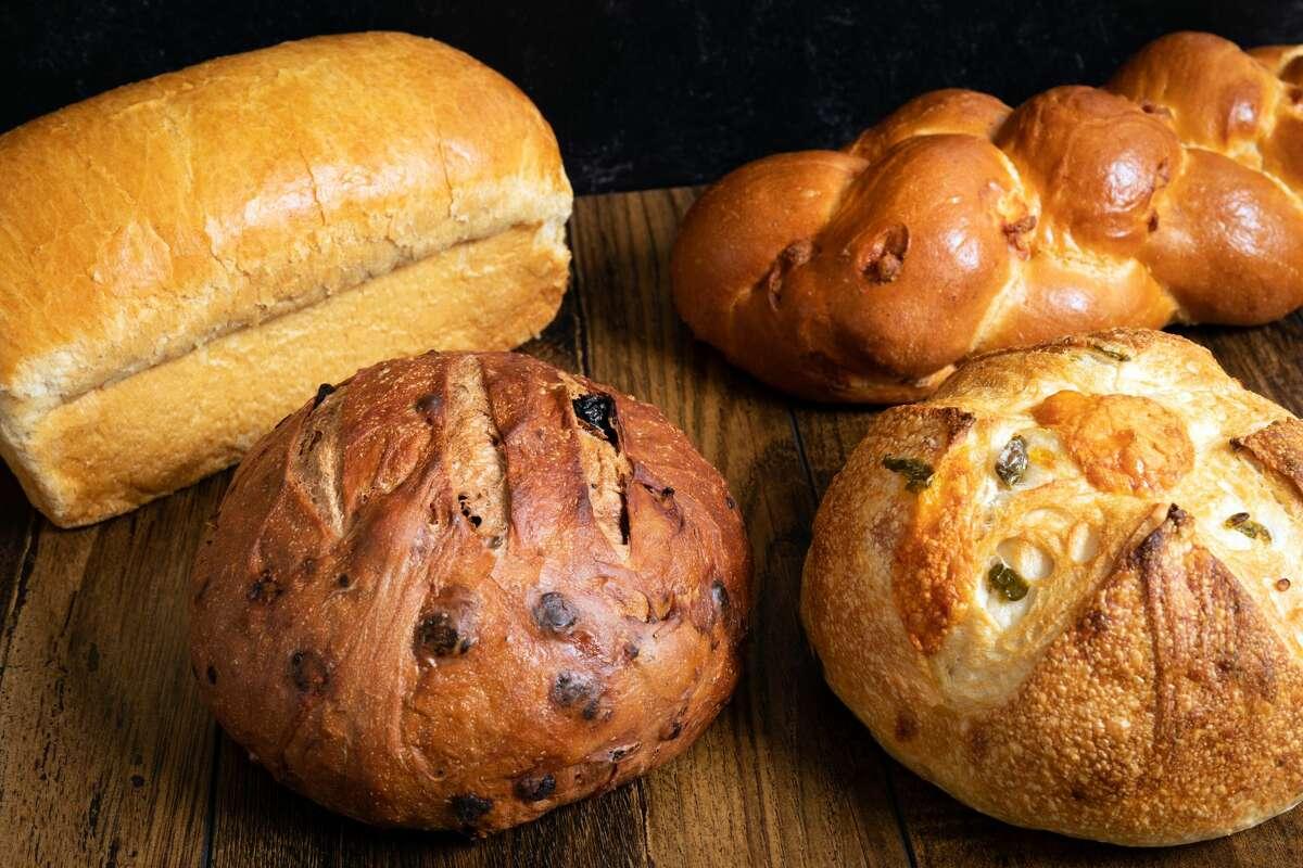 Jalapeno cheddar sourdough boule at Bread Man Baking Co.