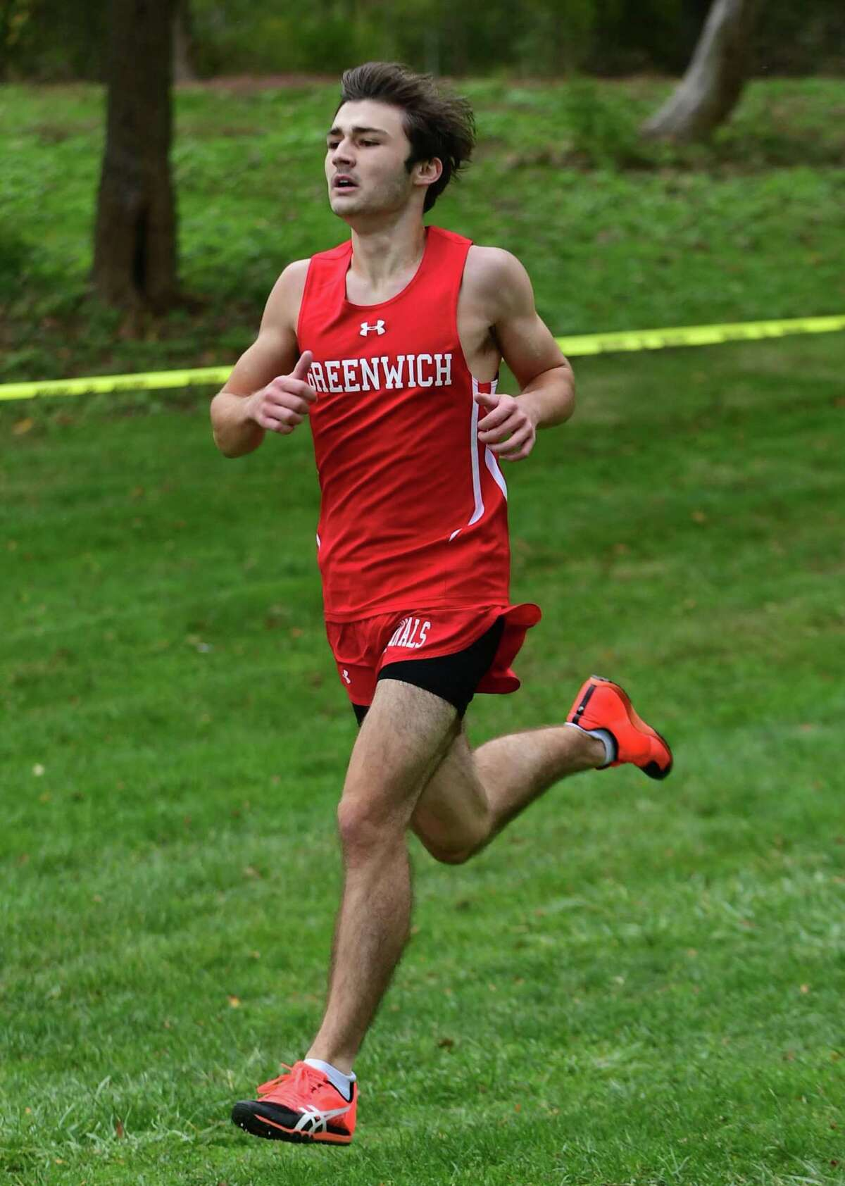 Zachary Jelinek and the Greenwich High School boys cross country team take on Darien Tuesday, October 27, 2020, at Tod's Point in Greenwich, Conn.