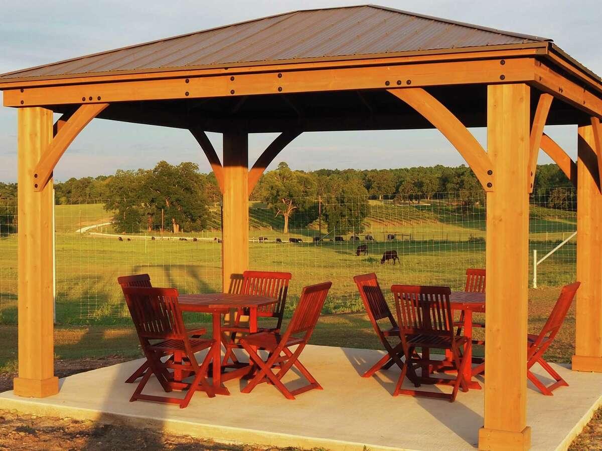 The gazebo at West Sandy Creek Winery near Huntsville.