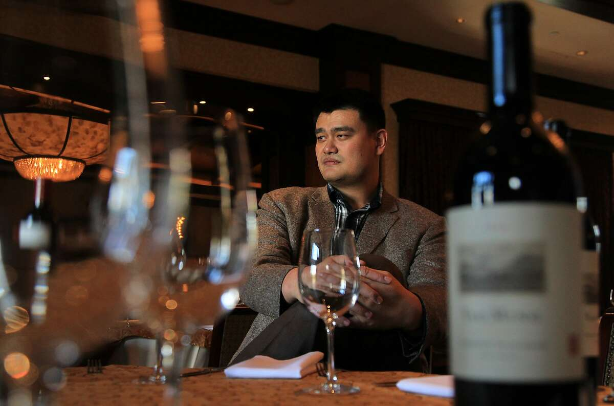 Yao Ming, seen at Vic & Anthony's Restaurant in Houston, owns a Napa wine brand.