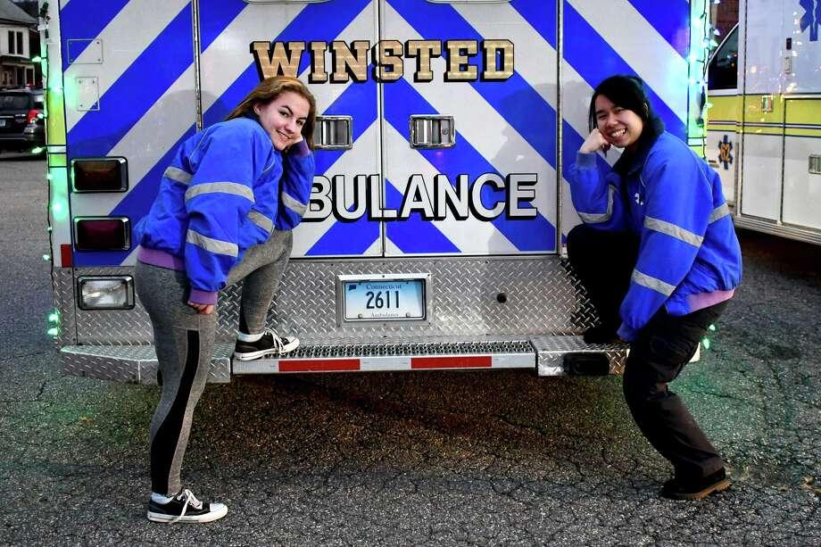 Winsted Ambulance volunteers. Photo: Lara Green-Kazlauskas / For Hearst Connecticut Media /