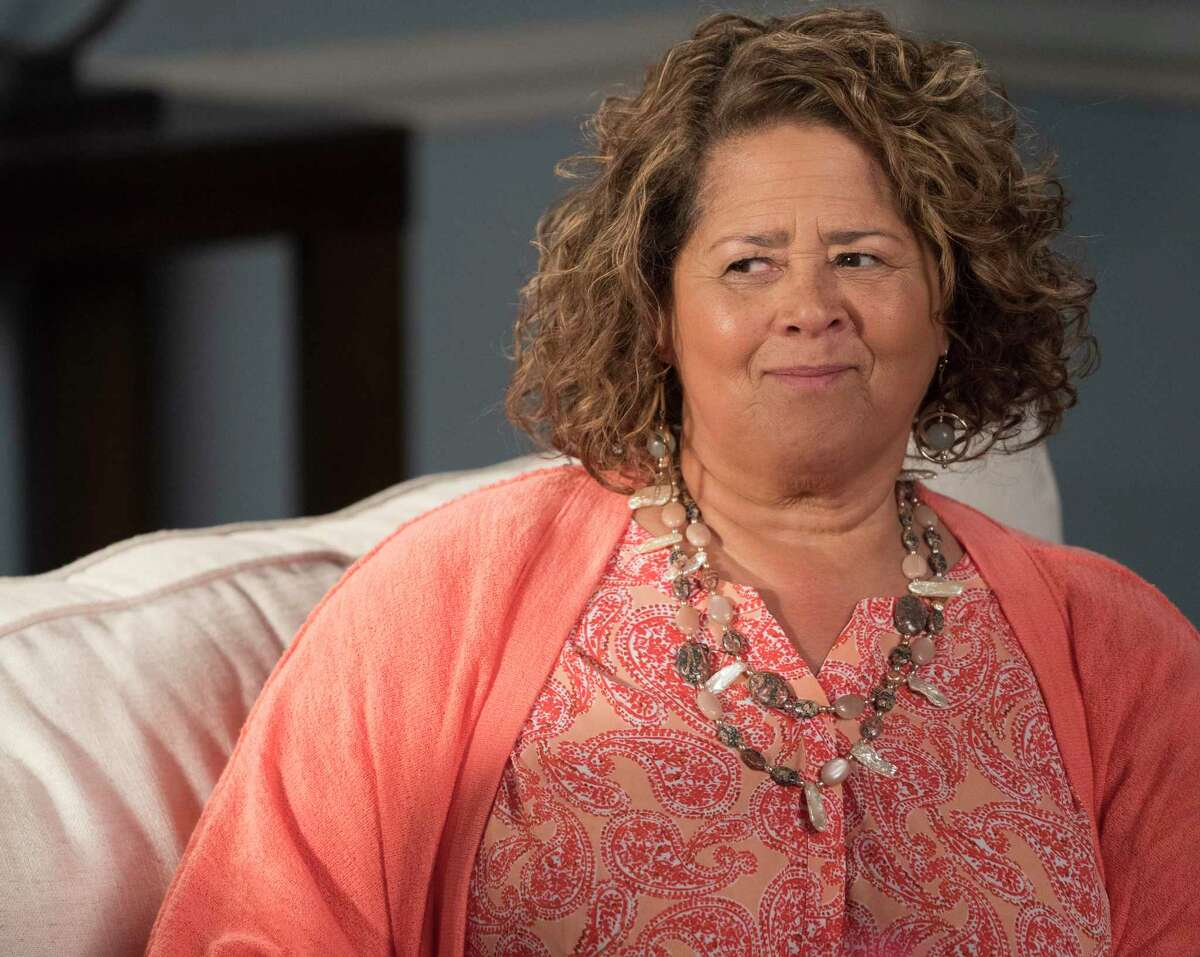 """Actor Anna Deavere Smith, pictured in a scene from ABC-TV's """"Black-ish,"""" will be Westport Library's 2020 Malloy Lecture in the Arts guest speaker Nov 10. She will present a performance of """"Snapshots: Portraits of a World in Transition,"""" and take questions at this virtual event."""