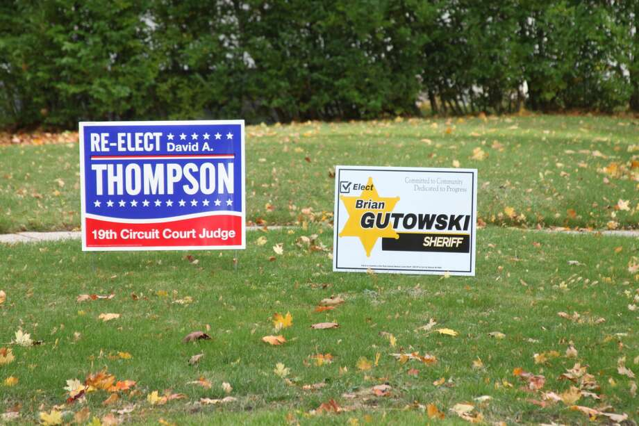Campaigns in Manistee County have focused on social media and yard signs rather than events and door-knocking in 2020. Photo: Erin Glynn/News Advocate
