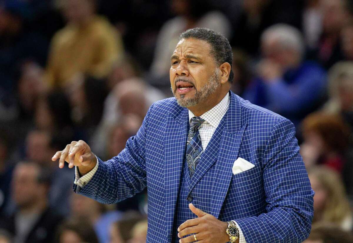 Providence head coach Ed Cooley is happy to have UConn back in the Big East ... sort of. (AP Photo/Laurence Kesterson)