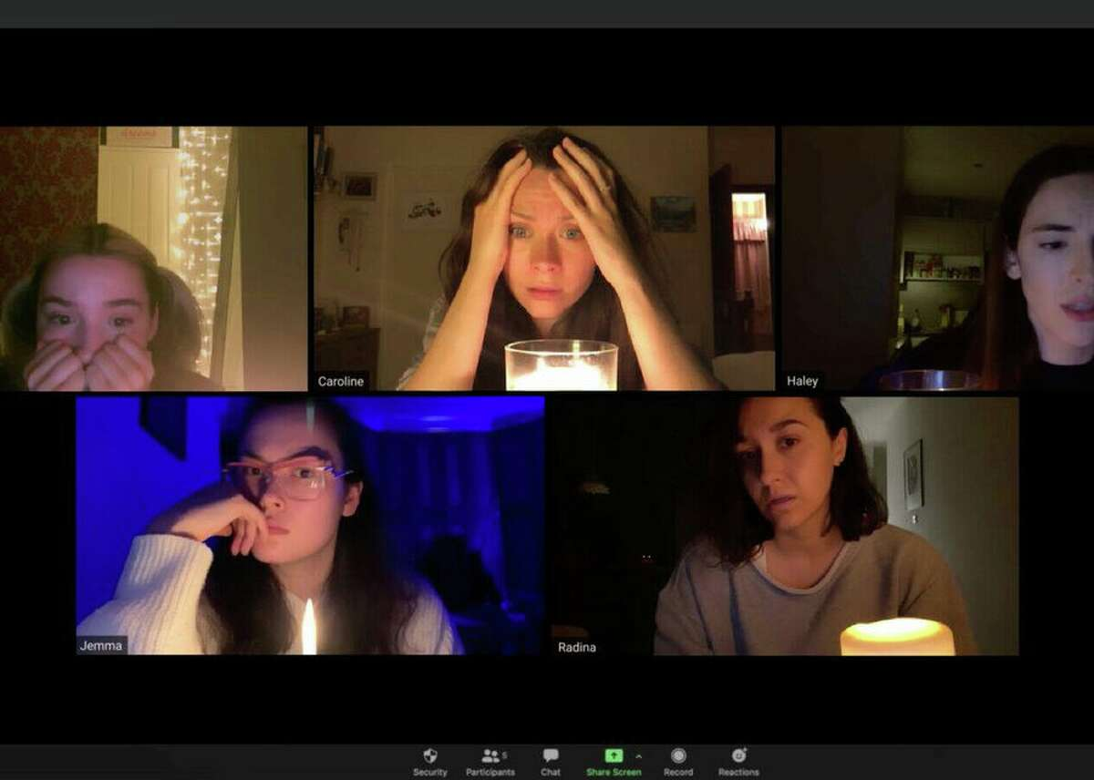 In indie horror movie Host, six friends hire a medium to hold a seance over Zoom during quarantine lockdown. What starts out as something that feels like a prank turns into a paranormal nightmare.The film stars Haley Bishop (Deep State), Radina Drandova (Dawn of the Deaf), Edward Linard (The Rebels), Jemma Moore (Doom: Annihilation), Caroline Ward (Stalling It) and Emma Louise Webb (The Crown), who all operated their own video cameras, created practical effects and lit their own scenes.Due to social-distancing precautions during quarantine, director Rob Savage never set foot in the same room as his actors during production and instead directed them remotely.Available on Amazon Prime Video (with Shudder add-on).Watch the trailer.