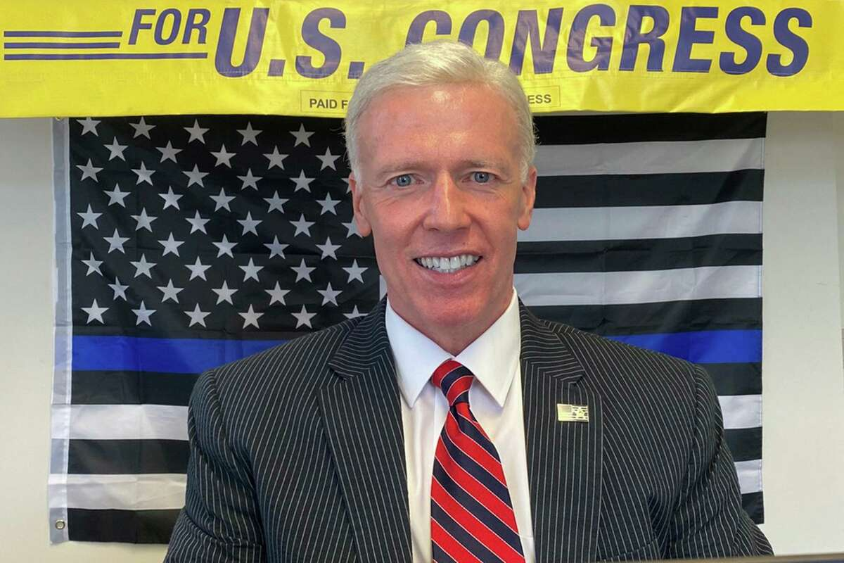 This undated photo shows David Sullivan, a Republican candidate for Connecticut's 5th Congressional District. Sullivan will face incumbent Democrat Jahana Hayes in the 2020 elections. (George Linkletter/Sullivan for Congress via AP)
