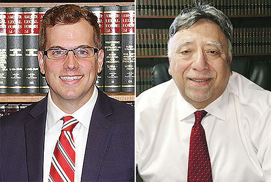 Incumbent R. John Alvarez, a Democrat, and Republican candidate Craig Miller, now an assistant state's attorney for Morgan County, are vying for the position of Cass County state's attorney. Photo: Journal-Courier