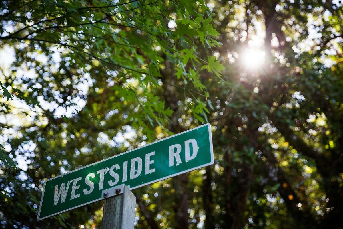 Westside Road in Healdsburg, California on July 5, 2017.