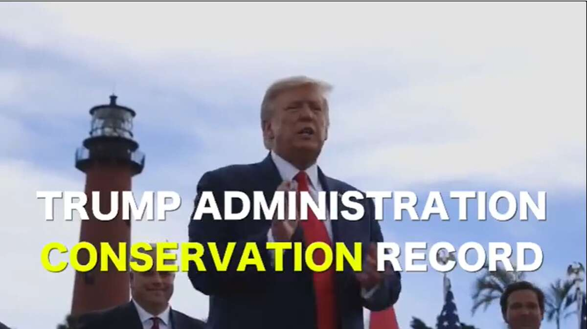A video extolling the Trump administration's conservation record was posted on official Department of the Interior social media accounts.