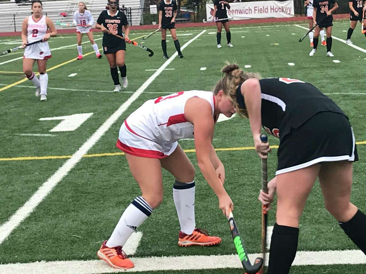 The Greenwich field hockey team posted a 6-0 win vs. Stamford on Wednesday, October 28, 2020, in Greenwich, Connecticut.