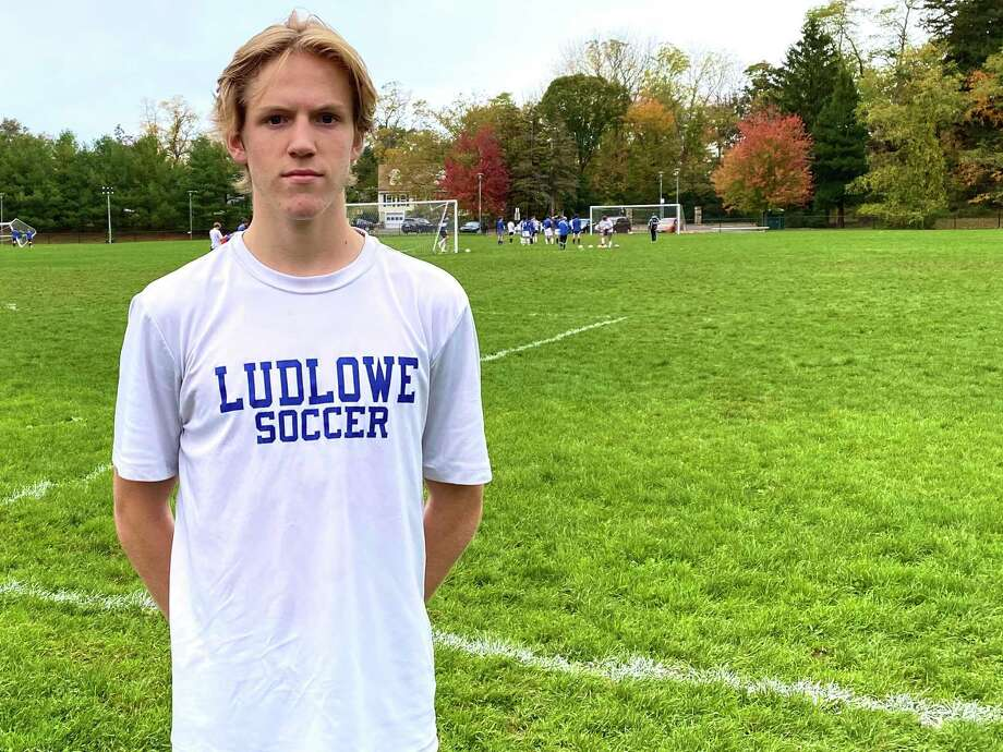 Ludlowe senior Calum Crawford at practice at Roger Ludlowe Middle School Tuesday afternoon. Crawford is an All-FCIAC midfielder and among the GametimeCT 25 players to watch this season. Photo: Scott Ericson / Hearst Connecticut Media